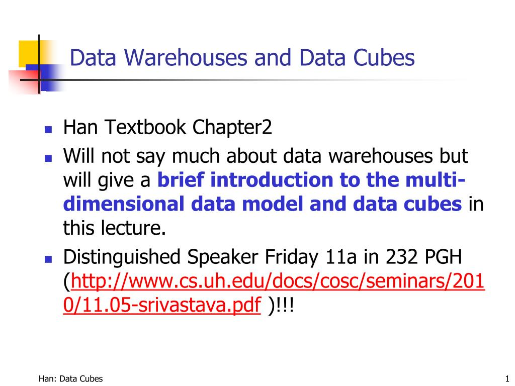 data warehouses and data cubes l.