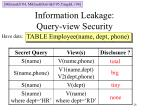 information leakage query view security