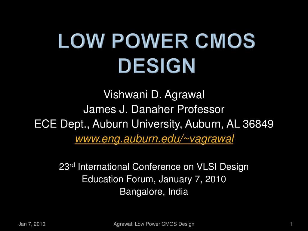 low power cmos design l.