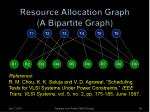 resource allocation graph a bipartite graph