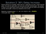 solution 2 30 delay increase