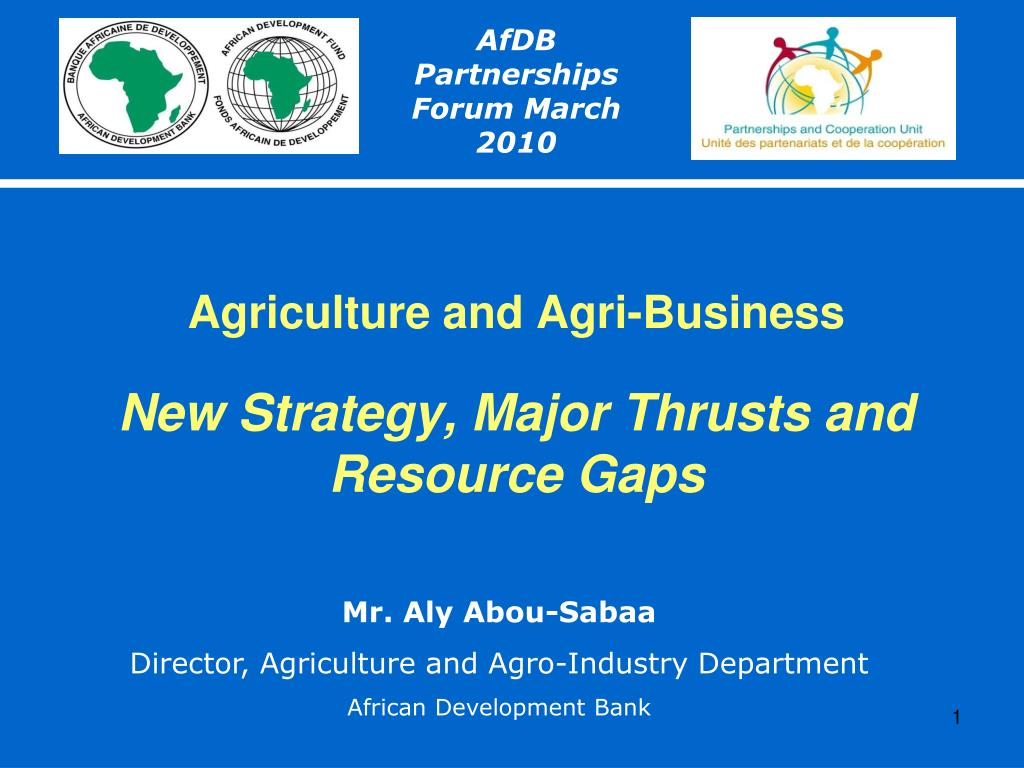 agriculture and agri business new strategy major thrusts and resource gaps l.