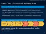 issues faced in development of captive mines