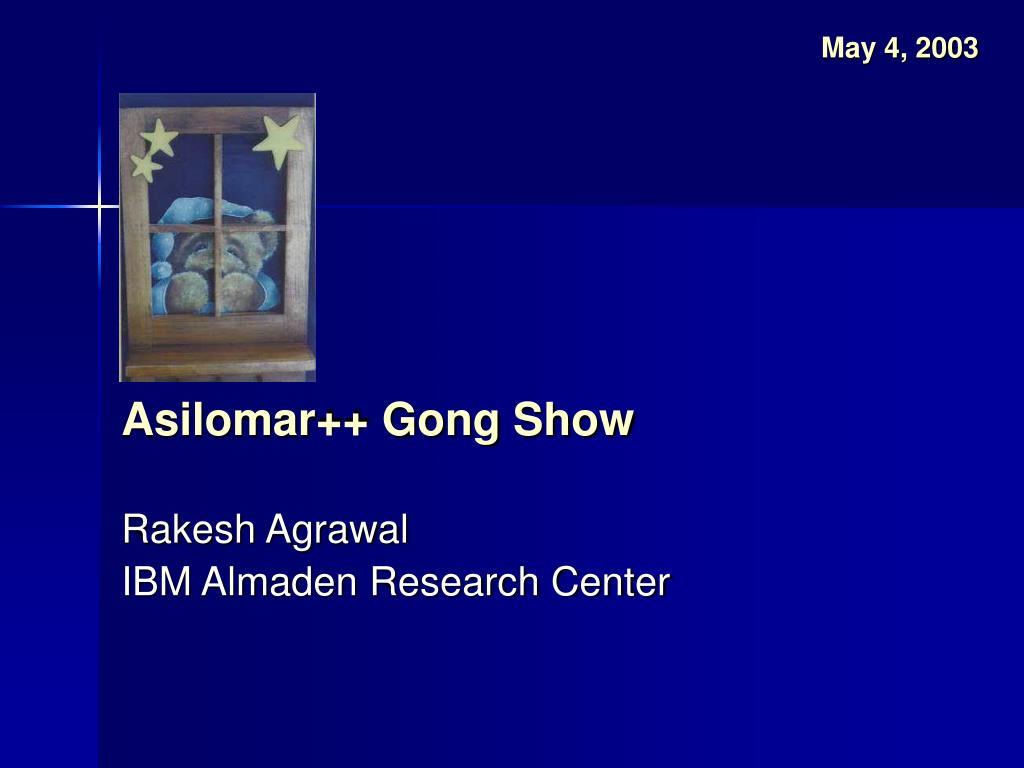 asilomar gong show l.