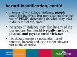hazard identification cont d17