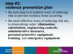 step 3 violence prevention plan
