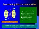 discovering micro communities
