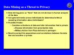 data mining as a threat to privacy