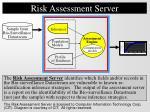 risk assessment server