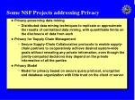 some nsf projects addressing privacy