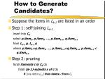 how to generate candidates
