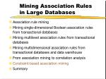 mining association rules in large databases33