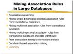 mining association rules in large databases35