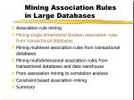 mining association rules in large databases7