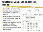multiple level association rules