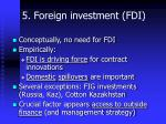 5 foreign investment fdi