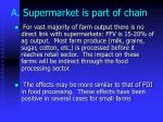 a supermarket is part of chain