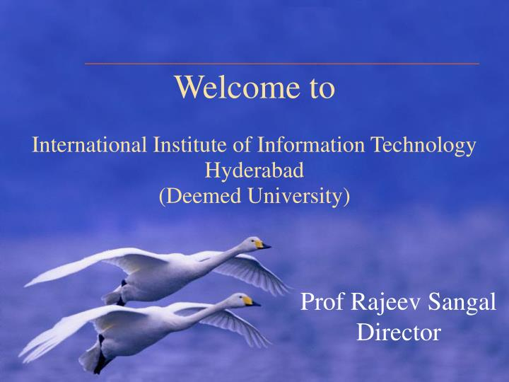 welcome to international institute of information technology hyderabad deemed university n.