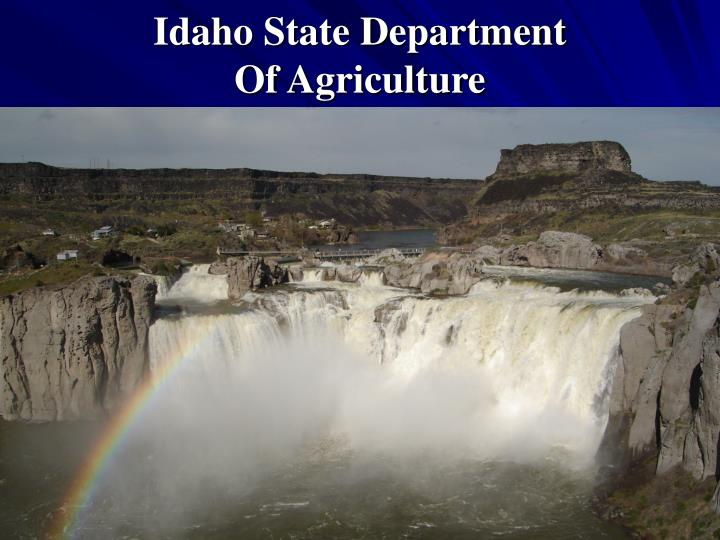 idaho state department of agriculture n.