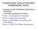 fijinational qualifications framework fncf
