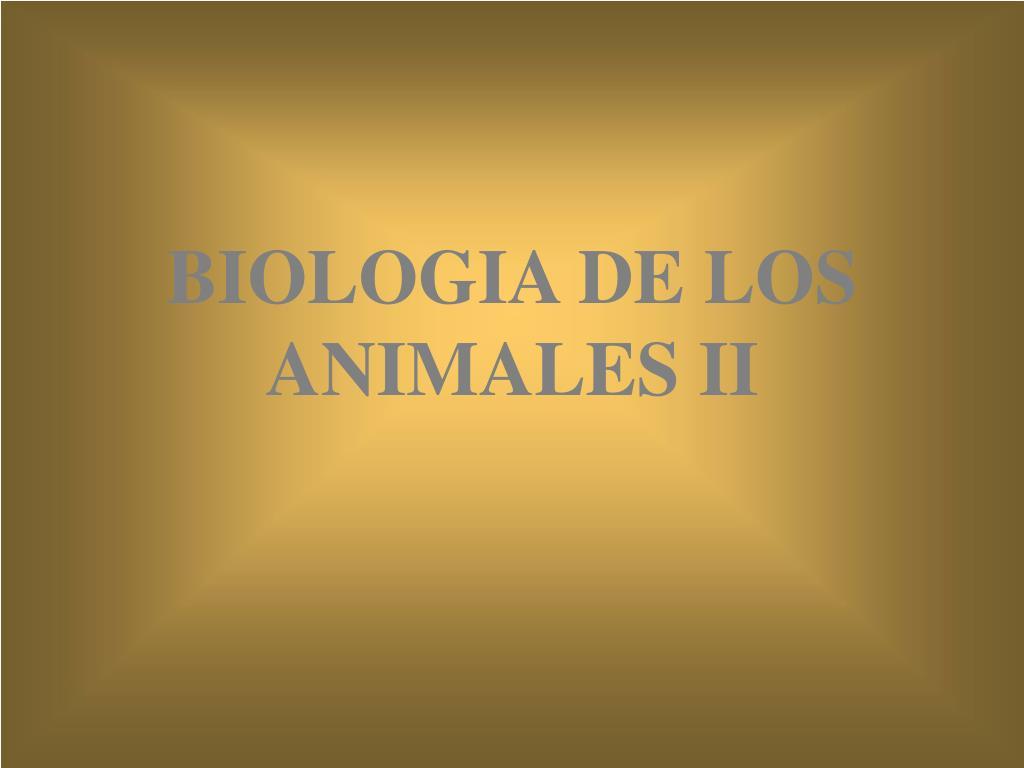 biologia de los animales ii l.