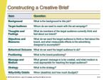 constructing a creative brief