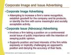 corporate image and issue advertising