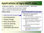applications of agro maps data