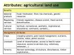 attributes agricultural land use