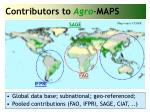 contributors to agro maps