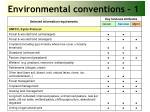 environmental conventions 1