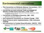 environmental conventions