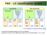 fao lc classification system