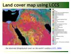 land cover map using lccs