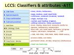 lccs classifiers attributes a11