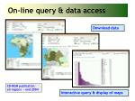 on line query data access
