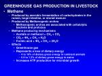greenhouse gas production in livestock