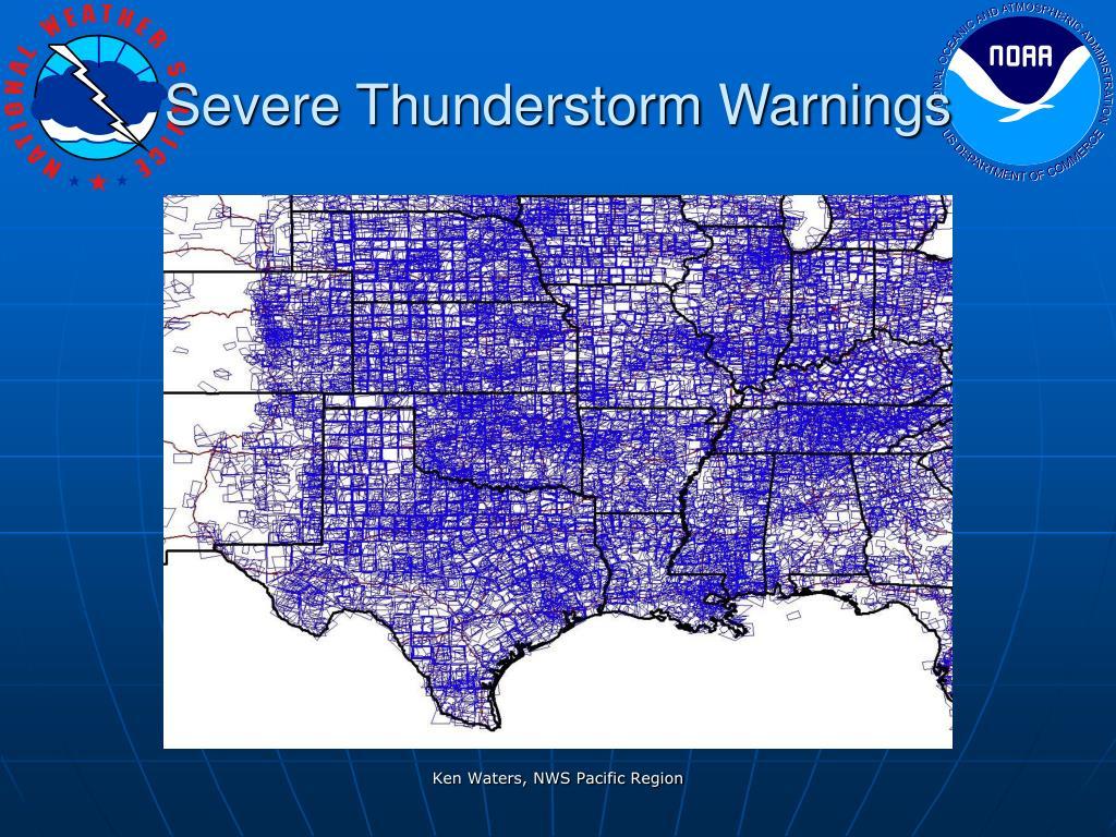 Severe Thunderstorm Warnings