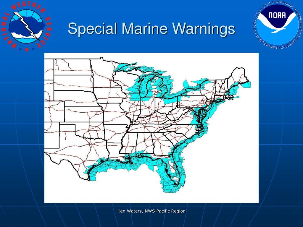 Special Marine Warnings