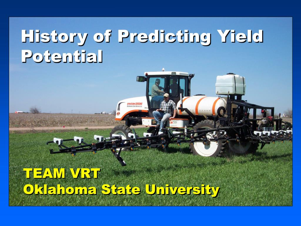 history of predicting yield potential l.