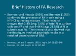 brief history of fa research5