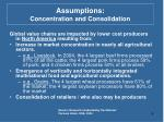 assumptions concentration and consolidation