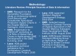 methodology literature review principle sources of data information