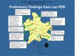 preliminary findings from lao pdr