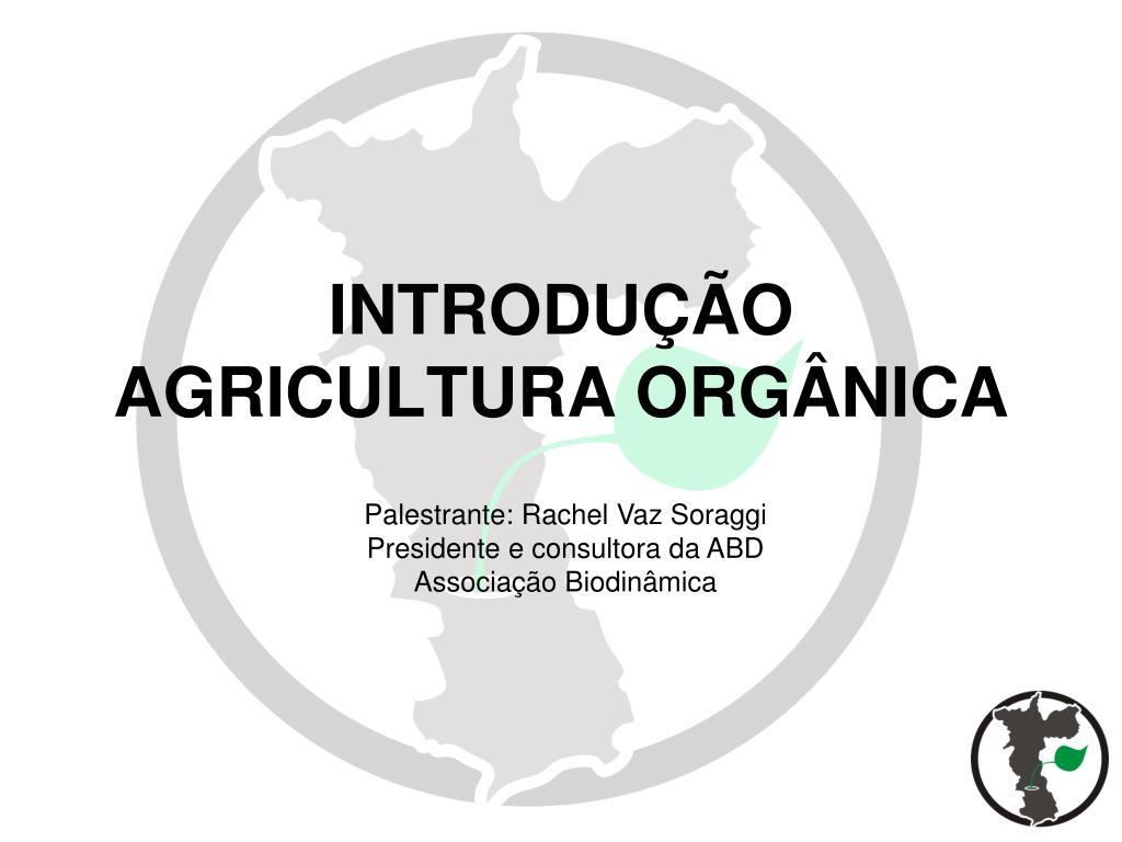 introdu o agricultura org nica l.
