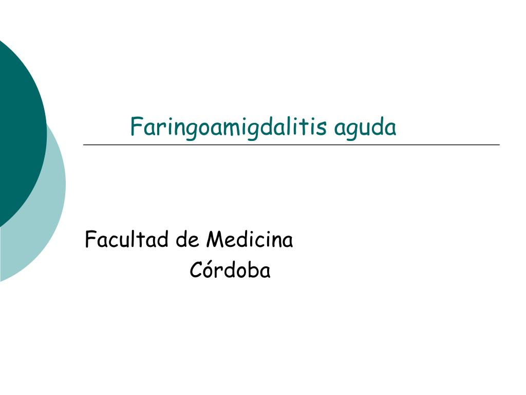 faringoamigdalitis aguda l.