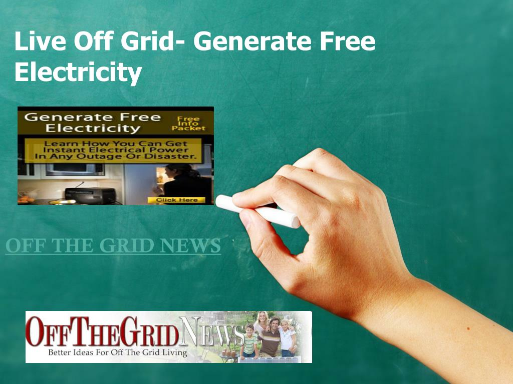 live off grid generate free electricity l.