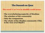 the sunnah on ijma15