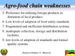 agro food chain weaknesses1
