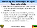 marketing and branding in the agro food value chain1
